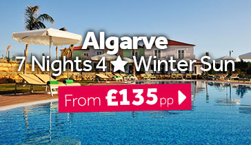 Algarve 7 Nights 4 Star Winter Sun