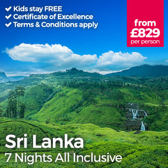 Sri Lanka - Kids stay FREE
