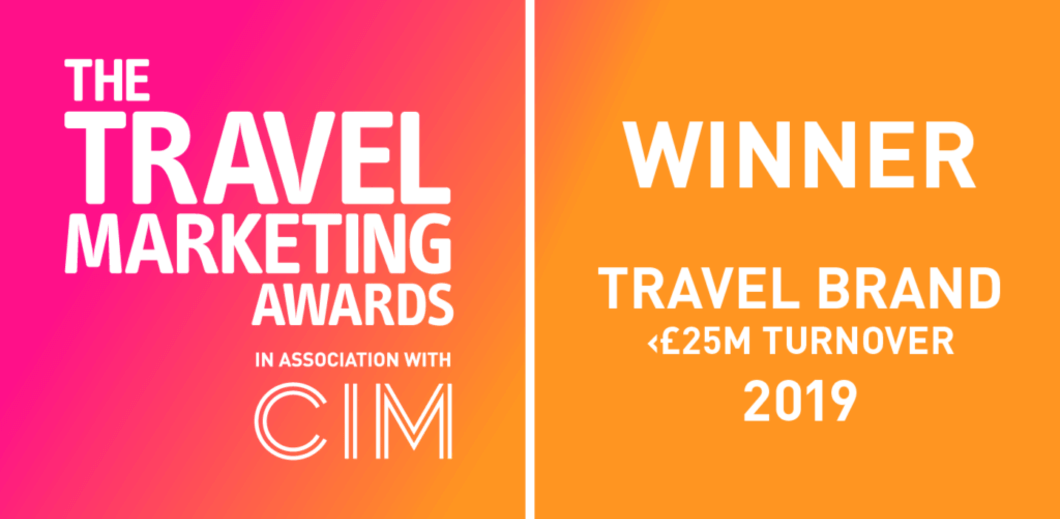 'Travel Brand of the Year (>25M Turnover)' at the Travel Marketing Awards 2019