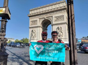 London To Paris Chairty Bike Ride - Finish Line