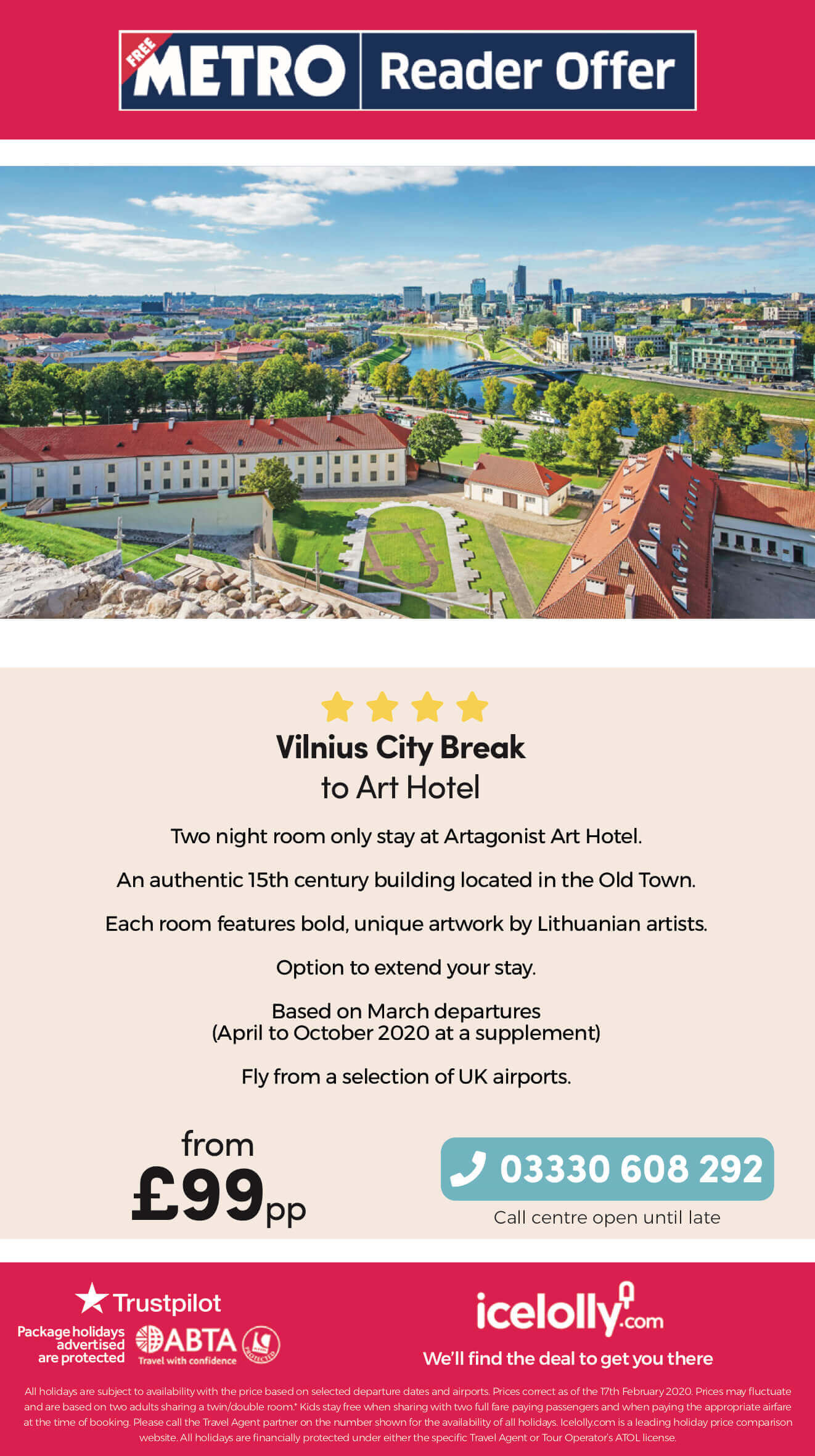 Vilnius in Lithuania city break offer