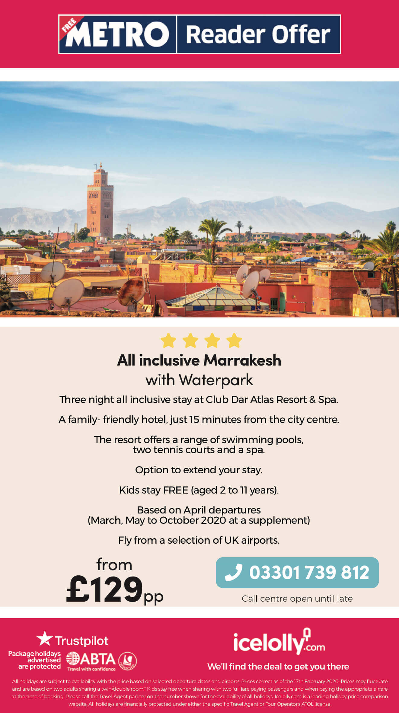 All Inclusive Marrakesh offer