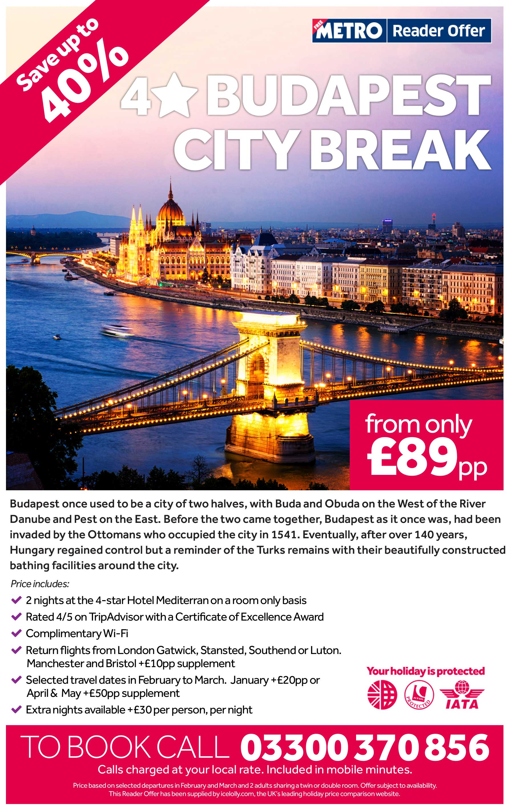 4 Star Budapest City Break