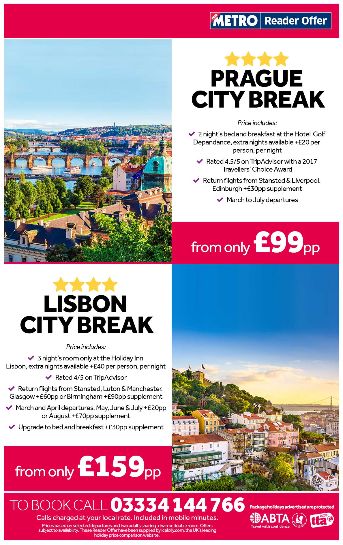 Prague and Lisbon Deals