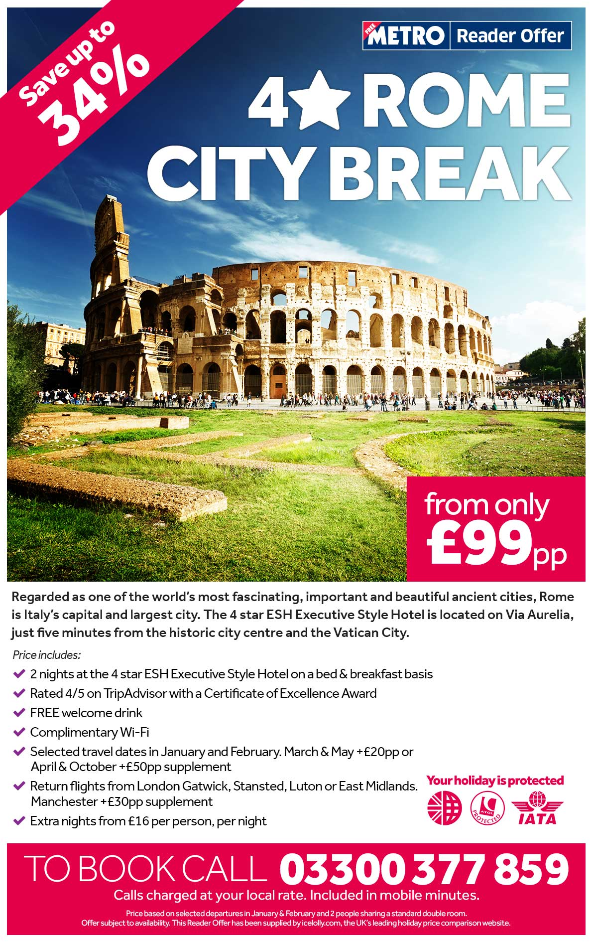 4 Star Rome City Break