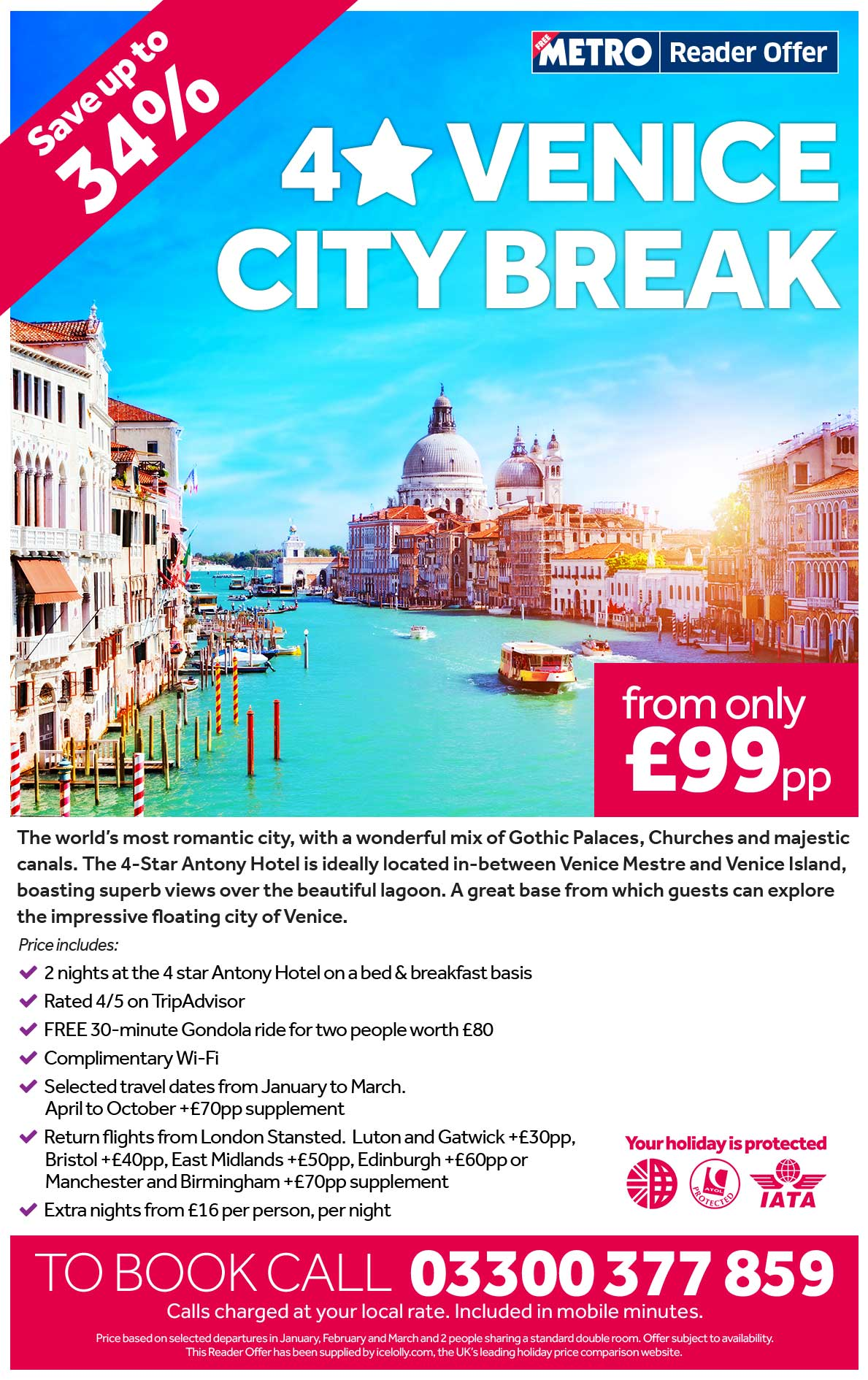 4 Star Venice Break